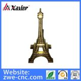 Laser Engraved Metal Eiffel Tower Statue Figurine