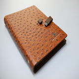 Special Leather Cover with Button Notebook Printing