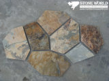 Mesh Rusty Slate Mosaic Tiles for Wall/Flooring (mm075)