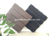 Interlock Fabricated Wood Tiles Outdoor Gazebo Flooring Balcony Wood Grain WPC Tiles
