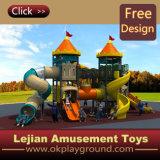 Kids High Castle Playground Tube Spiral Slides with En1176 (X1506-4)