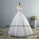 Tulle Lace Formal Crystal Beaded Wedding Dress
