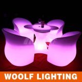 Modern Life Cheap Lighted Plastic LED Dining Table