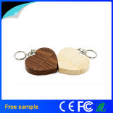Customized USB Wood Heart Shape USB 2.0 Pendrive 8GB