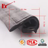 PVC Rubber Black Color U-Shaped Edge Trim