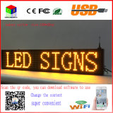 P10 Yellow Indoor LED Running Sign Wireless and USB Programmable Rolling LED Display Board 40X8 Inch LED Billboard