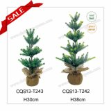 New Arrival H30-38cm Artificial Plastic Mini Christmas Decoration