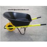 Plastic Tray, PU Wheel Size 400-8. Construction Building Wheelbarrow