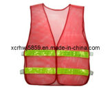 100% Polyester Mesh Fabric Safety Vest (HL-SC08)/Wholesale Traffic Reflective Vest with Velcro High Visibility Safety Vest Road Safety Vest/Europe Popular Style