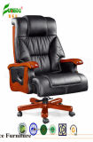 Swivel Leather Executive Office Chair with Solid Wood Foot (FY1311)