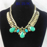New Item Resin Acrylic Glass Stones Fashion Jewellery Necklace