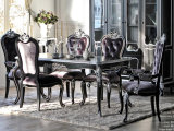 Classic Style of Dining Table and Chair Wooden Design