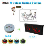 433MHz CE Approved Number Call System with Button and Display