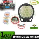 Round 10inch CREE 255W IP68 12-24V Auto LED Driving Light