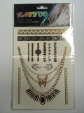 Waterproof Flash Tattoo Gold Temporary Tattoo Sticker