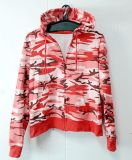 Ladies′ Zipper Hoody with Fashion Camouflage Color