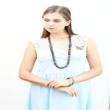 New Design Resin Beads Fashion Necklace Jewelry