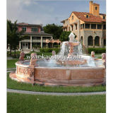 Outdoor Stone Garden Water Fountain Made of Marble and Granite