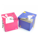 Customed Paper Packaging Cream Shoes Box (F60023)