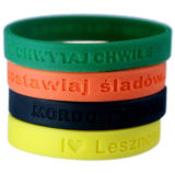 OEM Promotional New Printed Color Filled Silicone Bracelet (BZWB001)