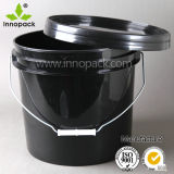 13L Strong Colored Black Plastic Buckets Pails
