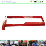 Custom Red White Coated Metal Fabrication Parts