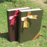 Book-Shaped Cardboard Chocolate Box Candy Box with Bowknot