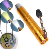 New 3 LED UV Light+ Yellow Light+White Light Jade Agate LED Flashlight