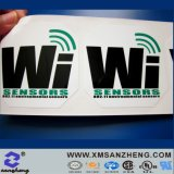 PVC Full Color Water Resistant Glossy Asset Tracking Self Adhesive Nameplate