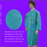 Disposable Spun-Bonded Polypropylene Nonwoven Lab Coat