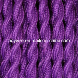 Purple Fabric Wire 2 Core Braided Electrical Twisted Wire