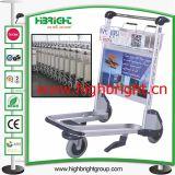 International Airport Steel Frame Baggage Cart