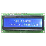 White Color (blue film negative display) Transparent Custom LCD Panel (SMC1602A7)
