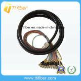 FC Singlemode 12 Core Fiber Optic Waterproof Pigtail