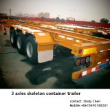 ISO CCC SGS Approved 3 Axles 40ft Container Skeleton Trailer