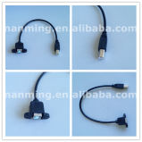 Motherboard Panel Mount USB Printer Cable