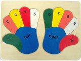 Wooden Puzzle Hands Puzzle Counting Numbers