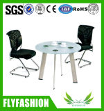 Office Furniture Waiting Room Glass Coffee Table with Chair (OD-195)