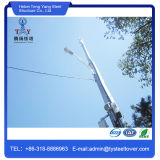 Hot Dipped Galvanized GSM Microwave Steel Antenna Monopole Pole