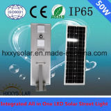 50W Integrated All in One Solar LED Street Light