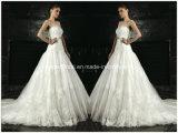 Strapless Bridal Ball Gowns Jewelry Belt Lace Wedding Dress Z5046