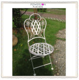 Classic White Round Iron Folding Chair (PL08-5135)
