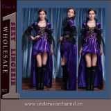Latest Design Fantastic Wicked Queen Adult Party Halloween Costume (TLQZ6534)