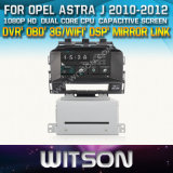 Witson Car DVD Player for Opel Astra J with Chipset 1080P 8g ROM WiFi 3G Internet DVR Support