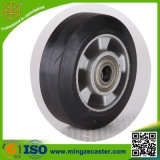 Black Rubber Aluminium Core Caster Wheel