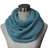 Lady Fashion Acrylic Knitted Neck Warmer Infinity Scarf (YKY4180-2)