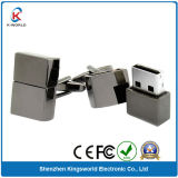 Silver Metal Cuff-Link USB Flash Disk