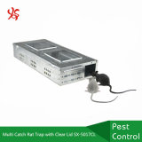 Multi Catch Reusable Metal Rat Trap with Clear Lid