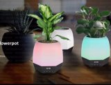 2017 Music Flowerpot Bluetooth Speaker with LED Light and Clock