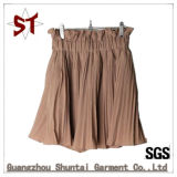 Custom Fashion Pleated Short Skirt with Pants Lining